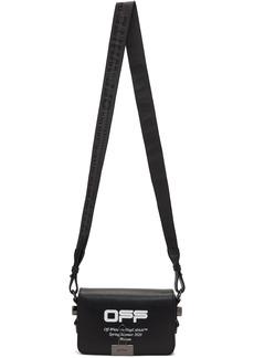 Off-White Black Mini Wavy Logo Flap Bag