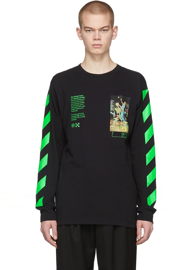 Off-White Black Pascal Painting Long Sleeve T-Shirt