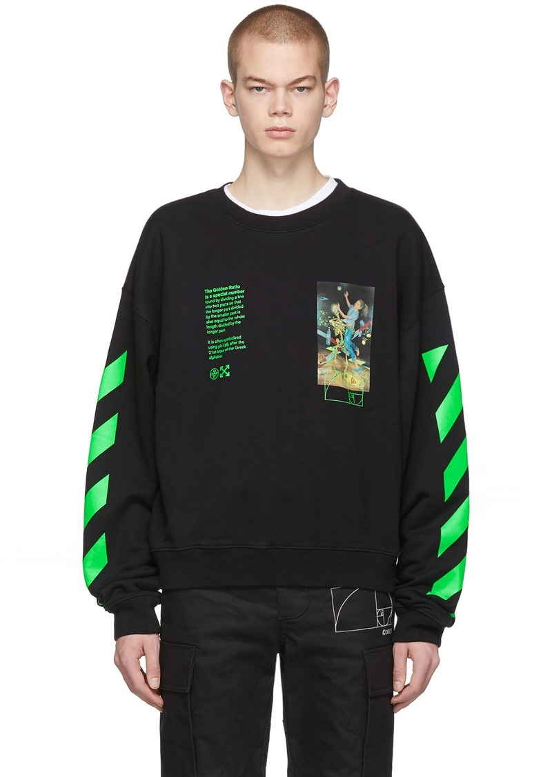 Off-White Black Pascal Painting Sweatshirt