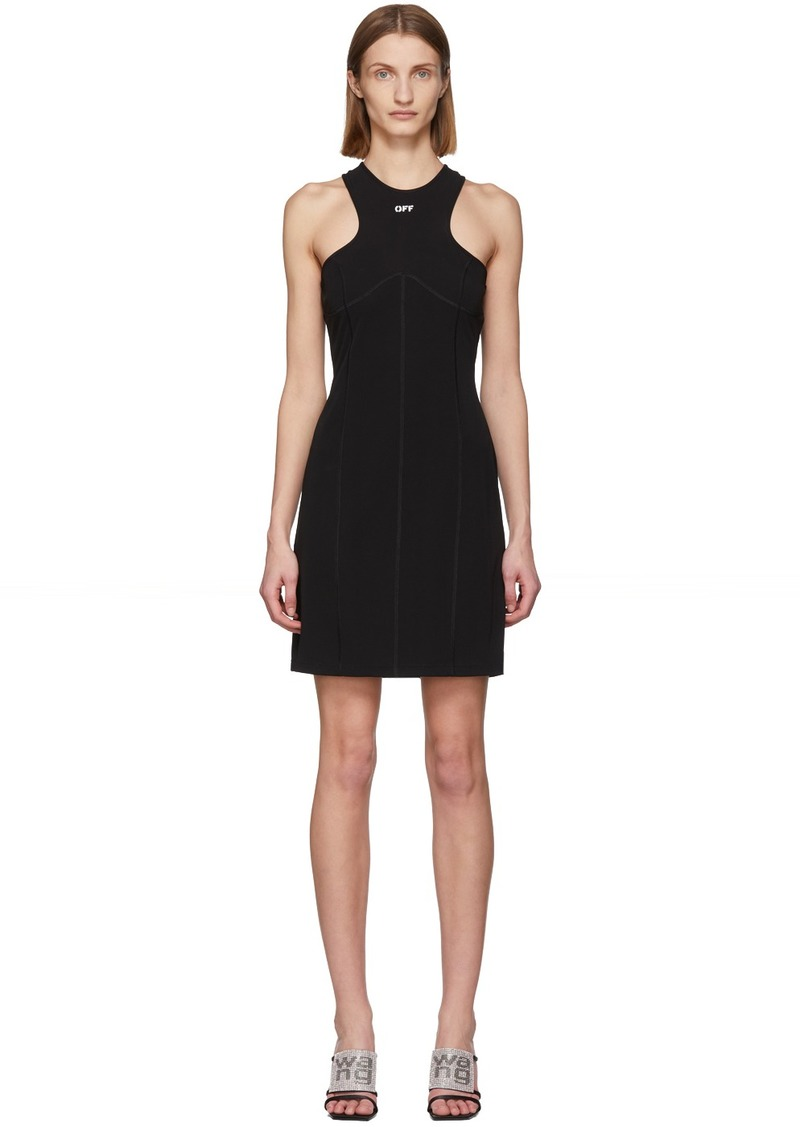 Off-White Black Rowing Pencil Dress
