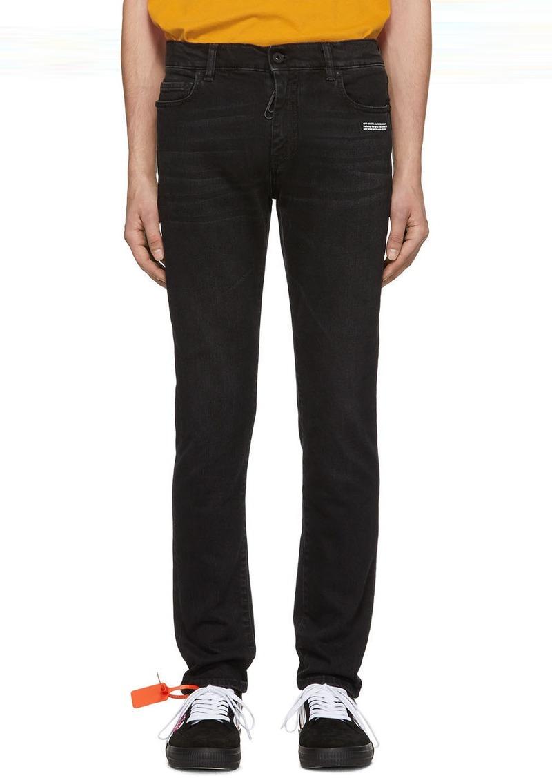 Off-White Black Skinny Regular Length Jeans