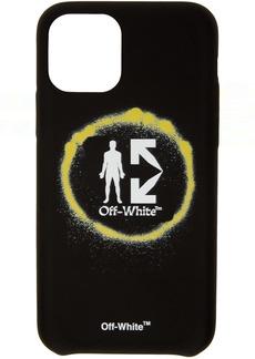 Off-White Black Spray Circle iPhone 11 Pro Case