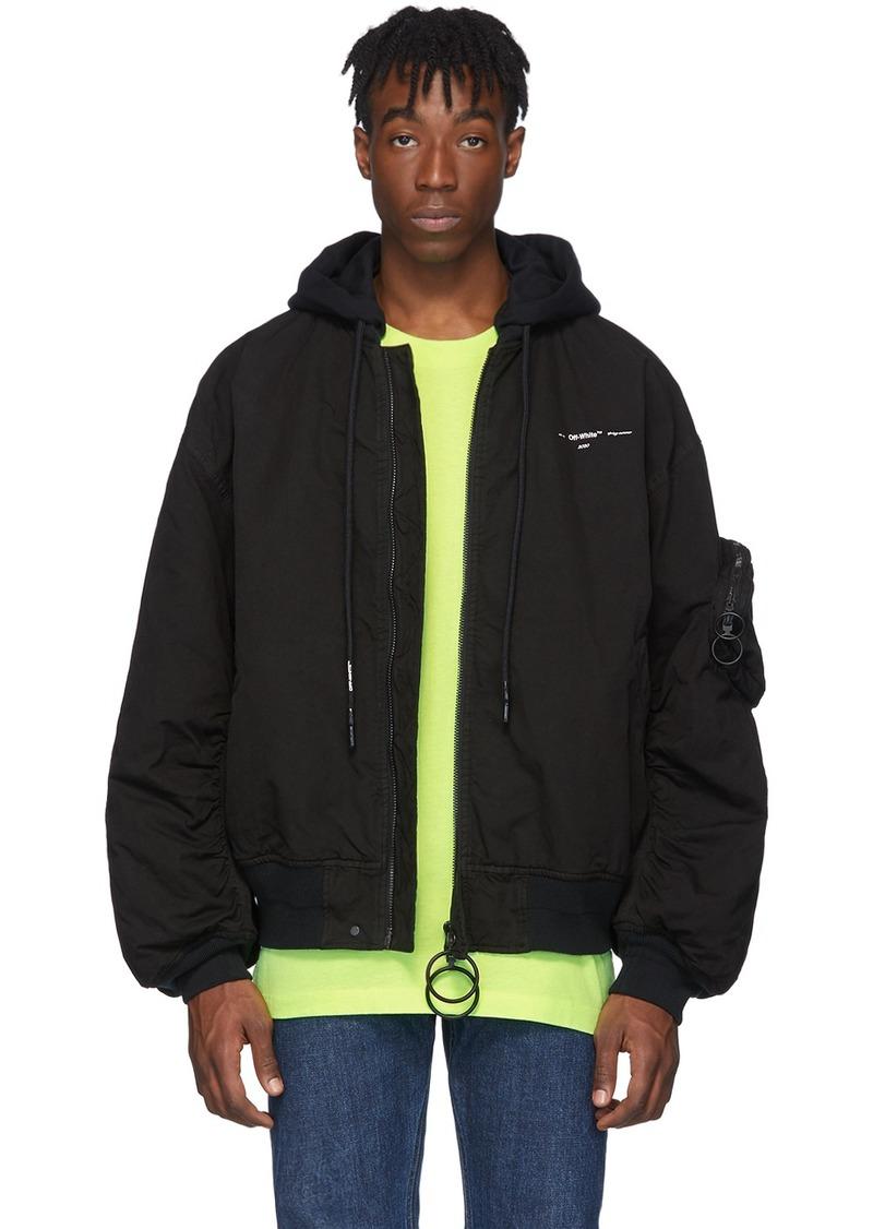 Off-White Black Vintage Bomber Jacket