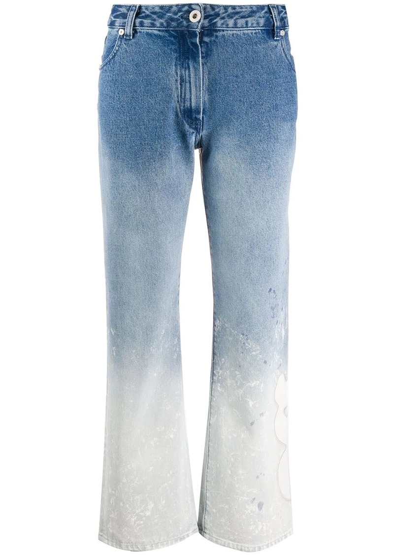 Off-White bleach effect straight jeans