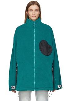 Off-White Blue & Black Equipment Fleece Jacket
