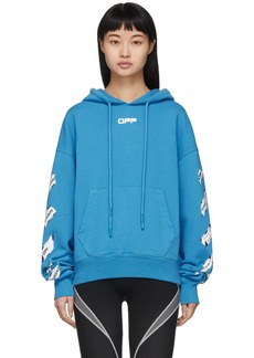Off-White Blue Airport Tape Hoodie