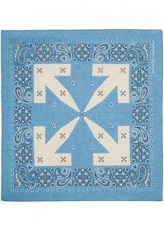 Off-White Blue Bandana Scarf
