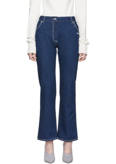 Off-White Blue Cropped Leg Jeans