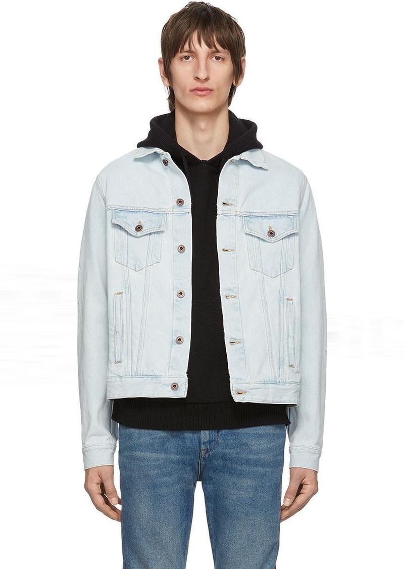 Off-White Blue Denim 3D Pencil Jacket