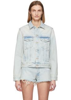 Off-White Blue Denim Bleach Jacket