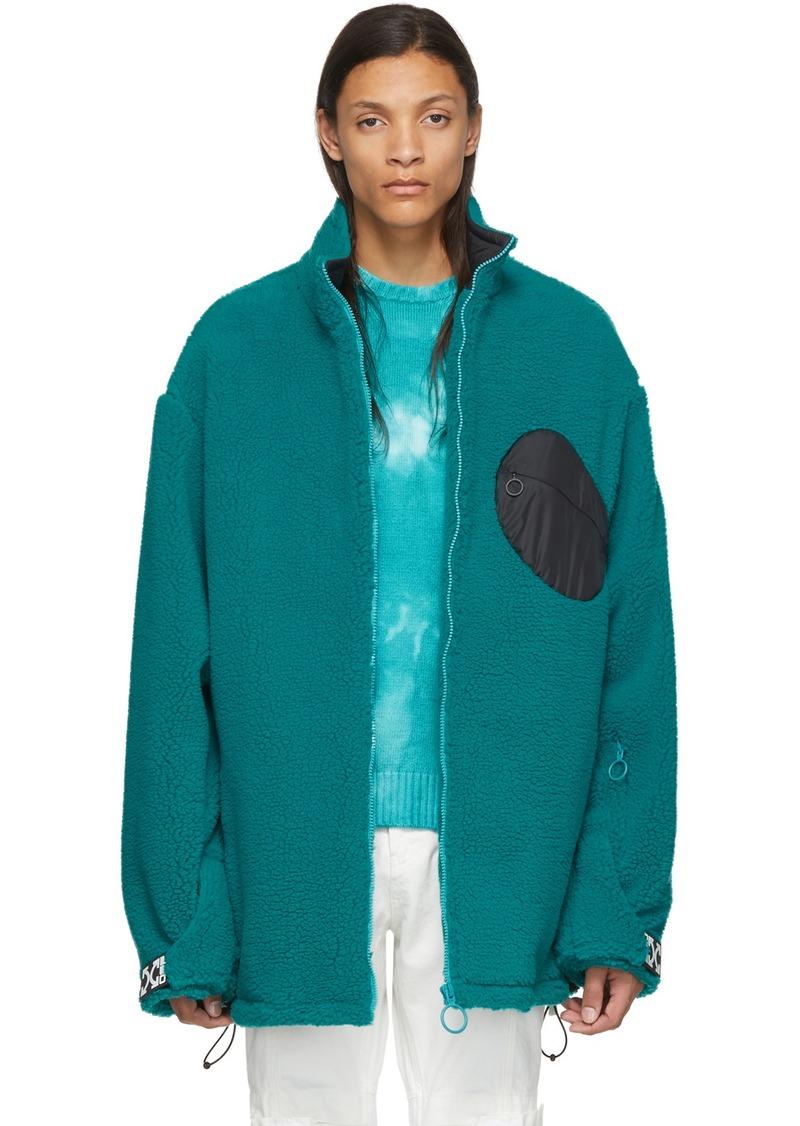 Off-White Blue Fleece Equipment Jacket