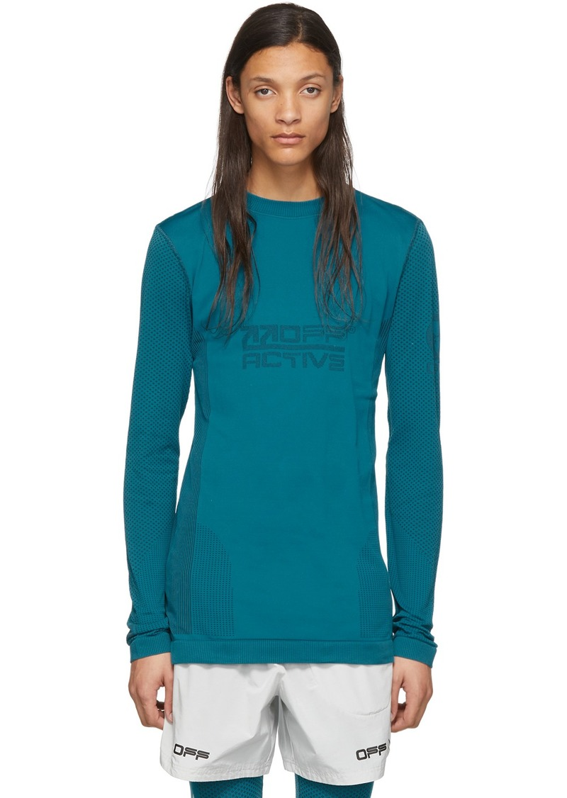 Off-White Blue Seamless Running Top