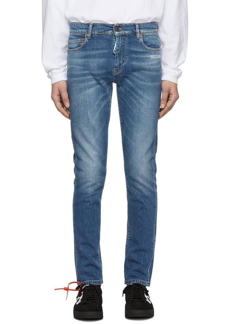 Off-White Blue Slim Jeans