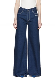 Off-White Blue Straight Leg Jeans