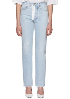 Off-White Blue Straight-Leg Jeans