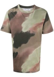 Off-White camouflage-print Stencil T-shirt