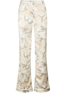 Off-White camouflage-pattern flared trousers