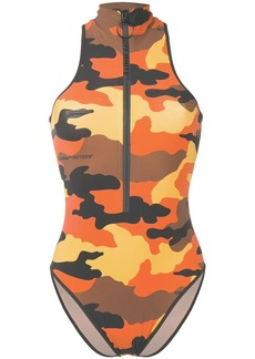 Off-White camouflage print high neck body