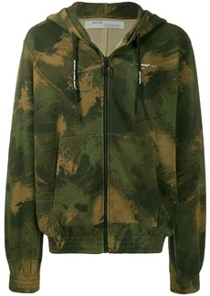 Off-White camouflage print zipped hoodie