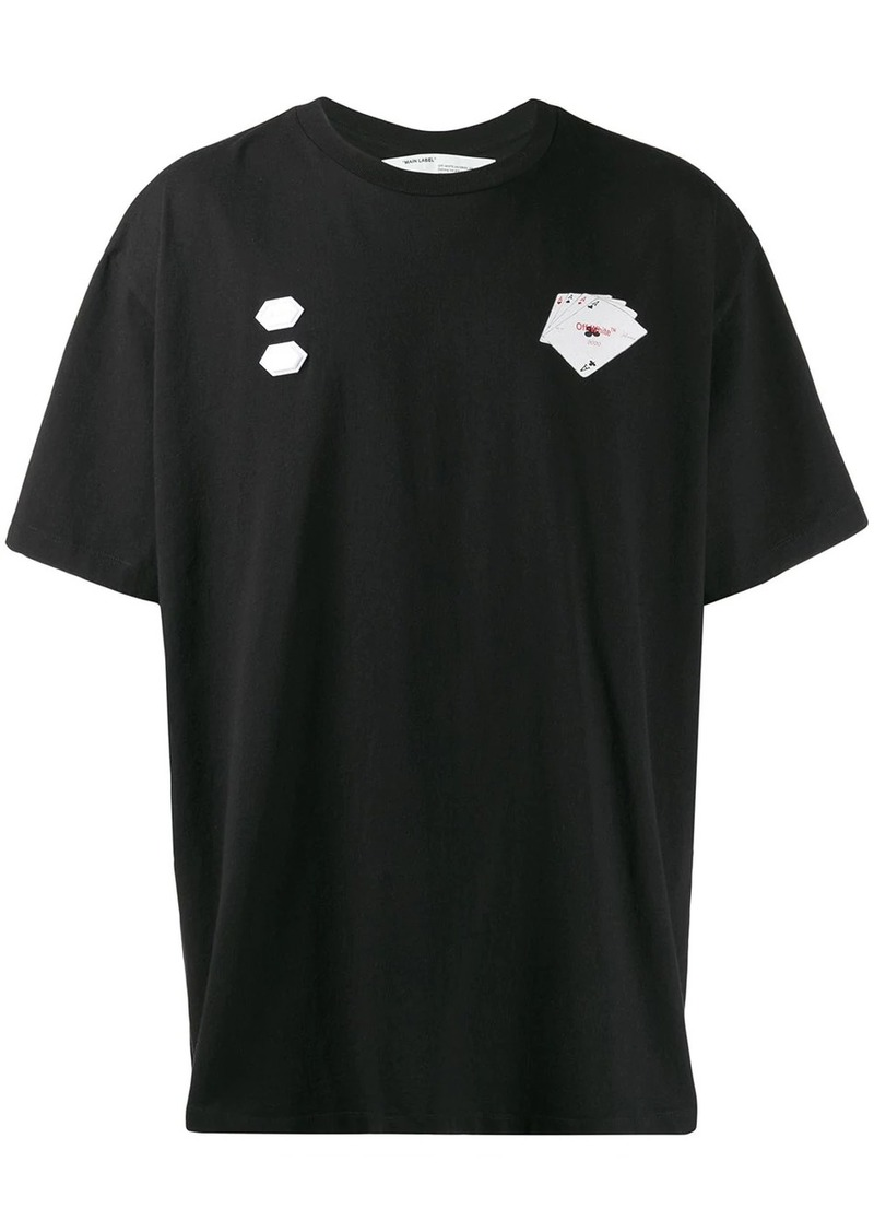 Off-White cards print T-shirt