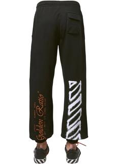 Off-White Cartoon Print Slim Jersey Sweatpants