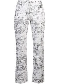 Off-White cartoon straight-leg jeans