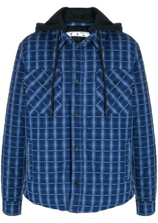 Off-White check-print hooded jacket
