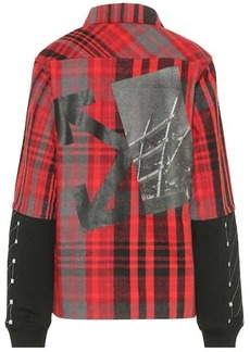 Off-White Checked cotton blend shirt