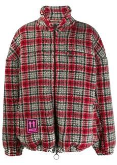 Off-White checked fleece jacket