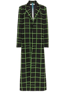 Off-White checked long coat