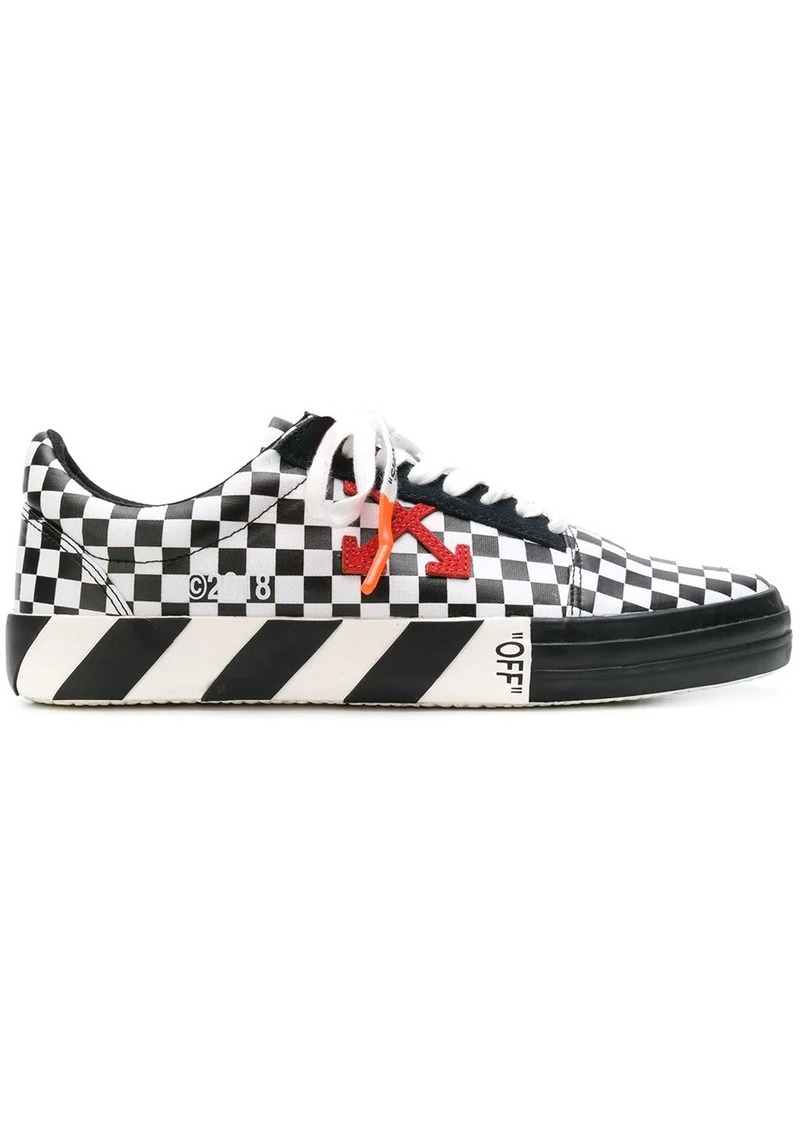 Off-White checked low top sneakers