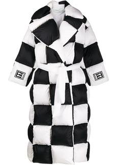 Off-White checkered puffer coat
