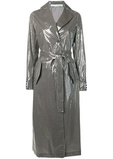 Off-White checked trench coat