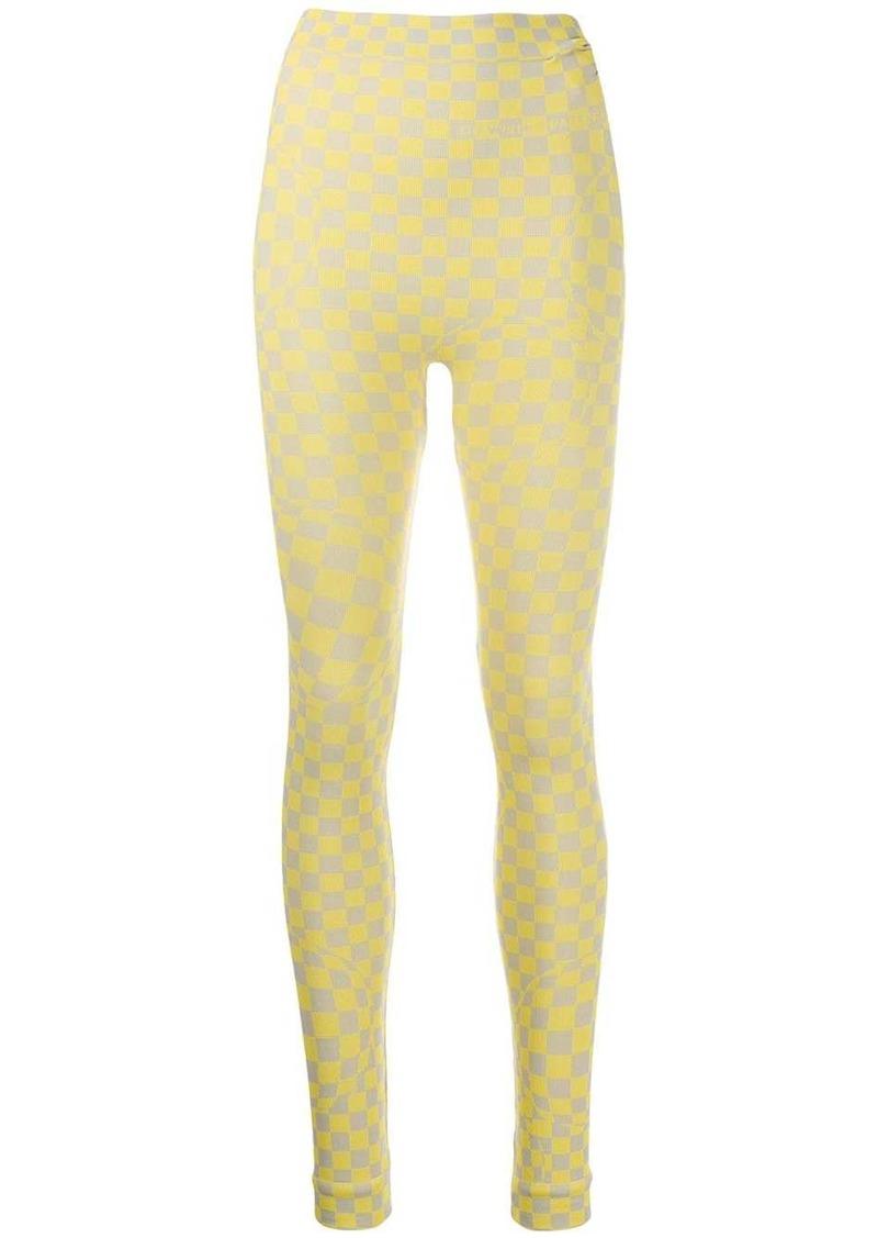 Off-White checkerboard leggings