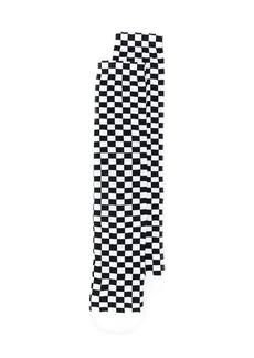 Off-White checkerboard logo socks