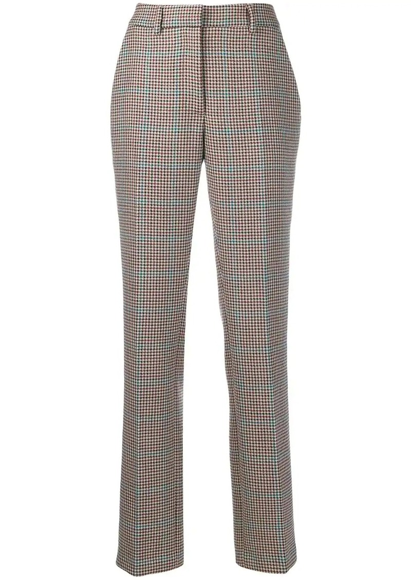 Off-White checkered tailored straight leg trousers