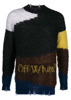 Off-White colour-block crew neck jumper