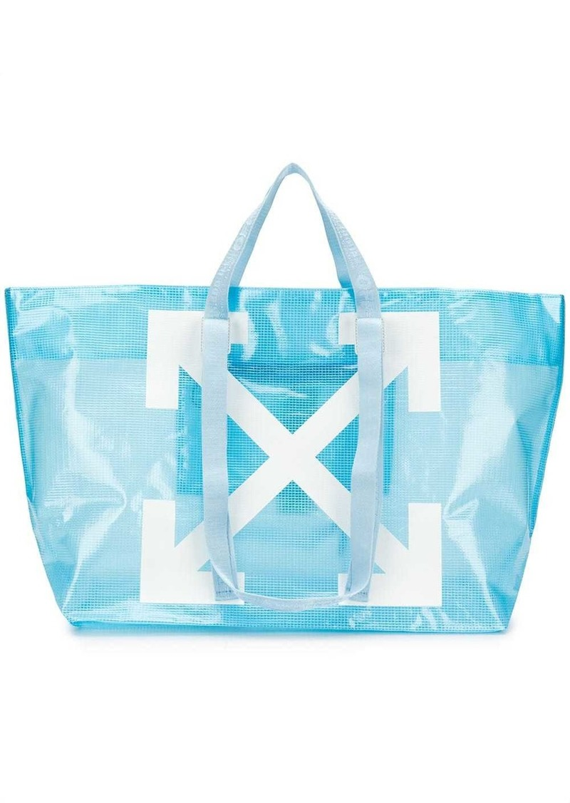 COMMERCIAL TOTE BABY BLUE WHITE