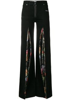 Off-White contrast flared trousers