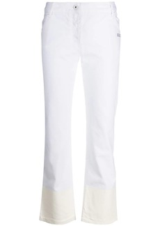 Off-White contrast hem mid-rise jeans