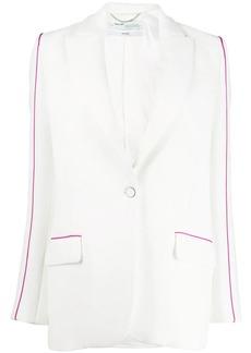 Off-White contrasting trim single-breasted blazer