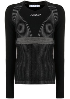 Off-White crew-neck ribbed-knit jumper