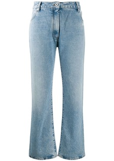 Off-White cropped bootcut jeans