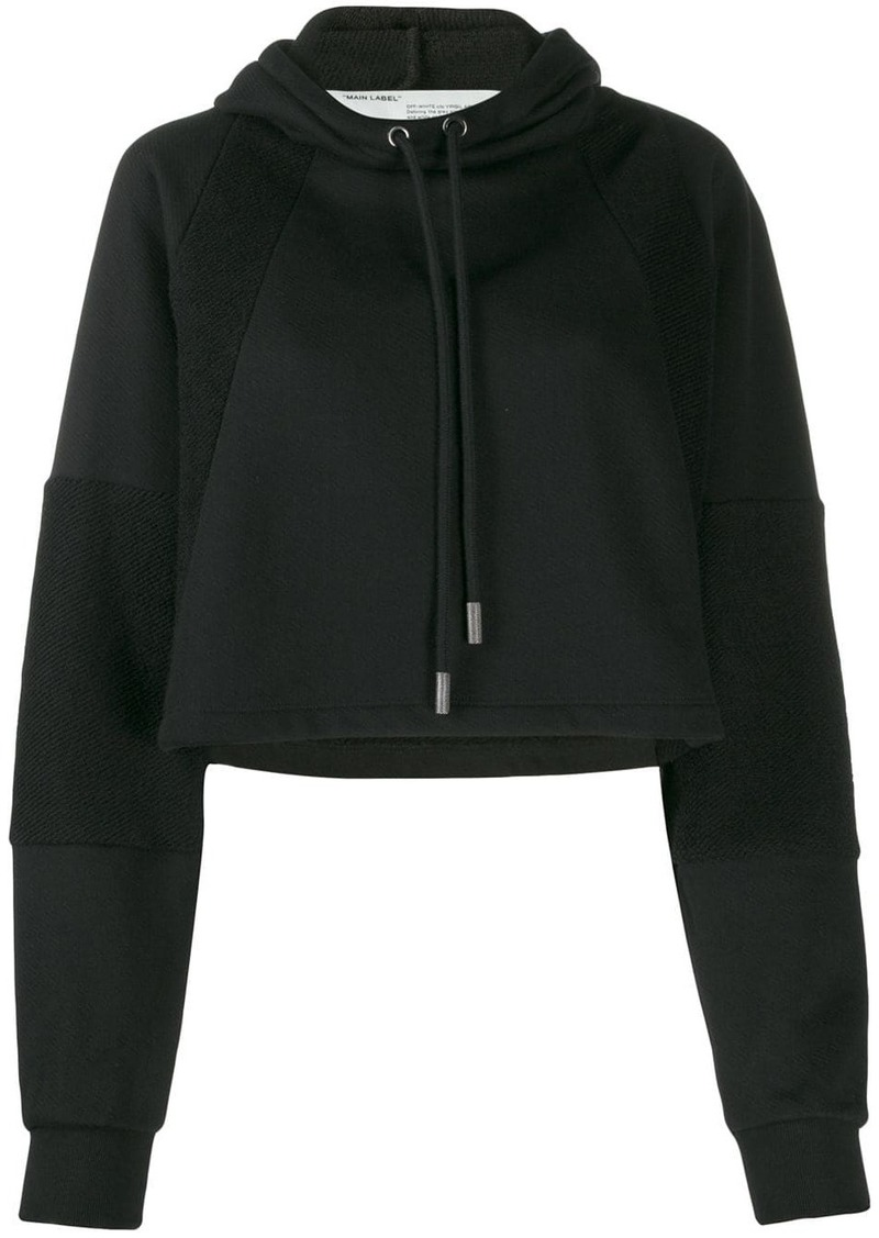Off-White cropped logo hoodie