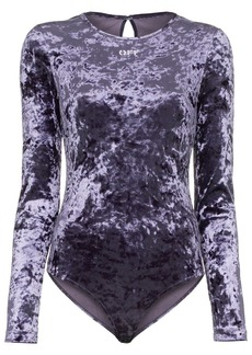 Off-White crushed velvet bodysuit