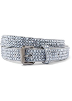 Off-White Crystal-embellished Leather Belt