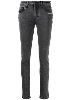 Off-White logo-print skinny jeans