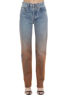 Off-White Degradé Cotton Denim Jeans