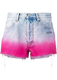 Off-White degradé-effect denim shorts