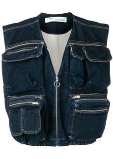 Off-White denim multipocket vest